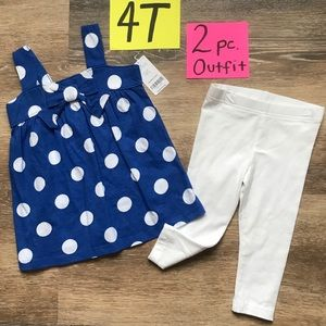 NWT Carter's 4T Girls 2pc Matching Outfit